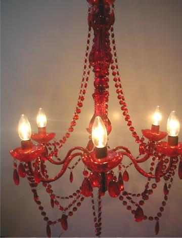 grand lustre pampilles rouge 891650. Black Bedroom Furniture Sets. Home Design Ideas